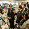 July 2012 - Governor Andrew Cuomo tours UAlbany's Cancer Research Center on the East Campus. Photographer: Mark Schmidt